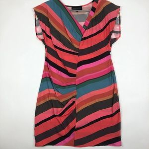 Corey Lynn Calter silk multi color stripe dress